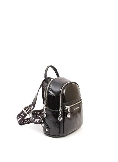 Silver Polo Sırt Çantası Siyah